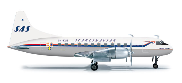Sas CV-440 (1:200), Herpa 1:200 Scale Diecast Airliners Item Number HE556507