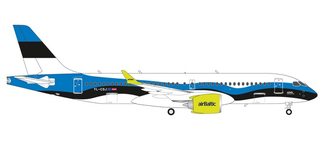 "Air Baltic Airbus A220-300 ""Estonia"" (1:200) by Herpa 1:200 Scale Diecast Airliners"