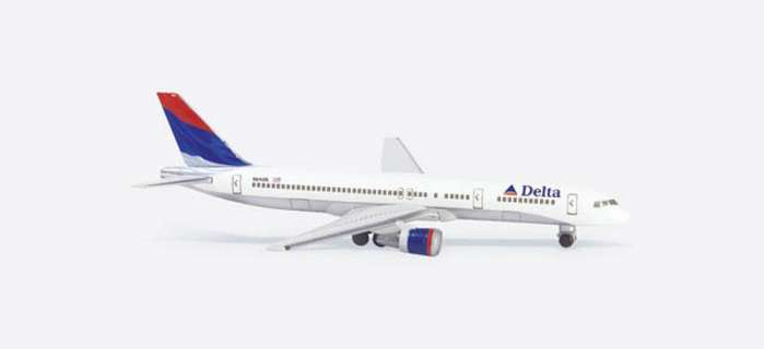 Delta B757-200 Latest Colors (1:500), Herpa 1:500 Scale Diecast Airliners Item Number HE503860