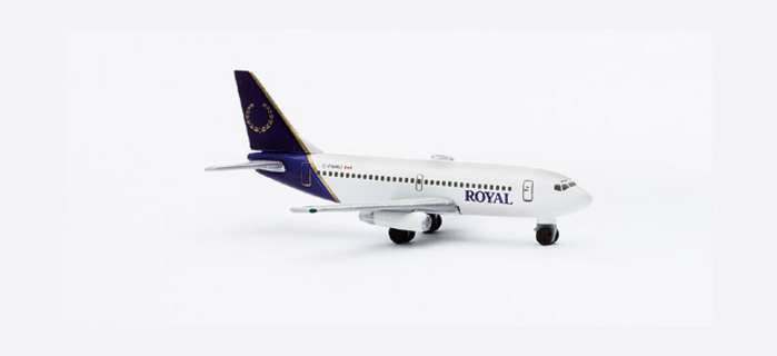 Royal B737-200 (1:500), Herpa 1:500 Scale Diecast Airliners Item Number HE505727