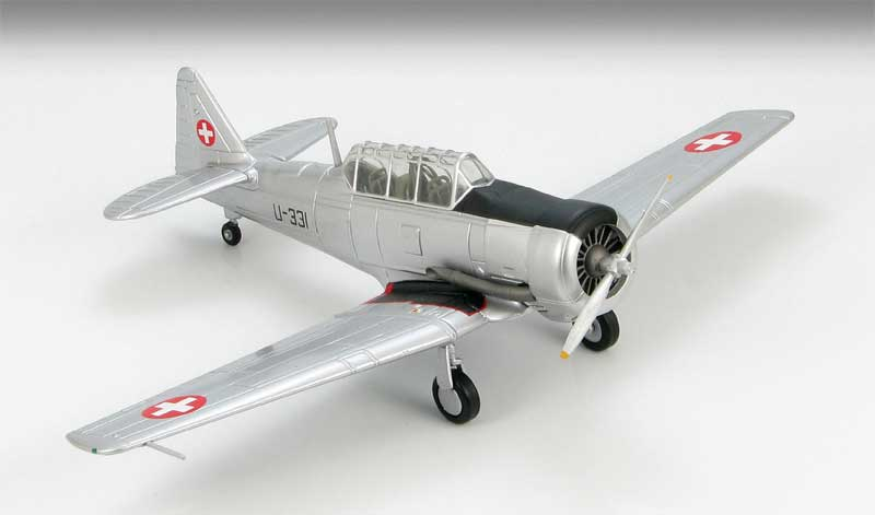 AT-16 Harvard Swiss Air Force, 1960s (1:72), Hobby Master Diecast Airplanes Item Number HA1523