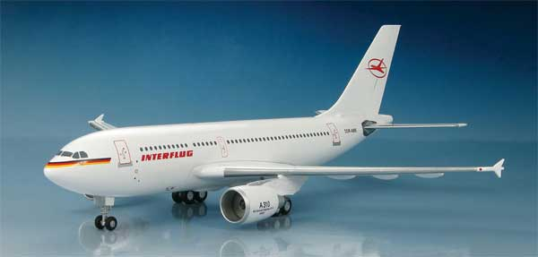 Interflug Airbus A310-304, 1990 (1:200), Hobby Master Diecast Airplanes Item Number HL6001