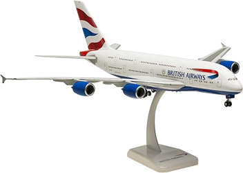 British Airways A380 With Gear, G-XLEA (1:200), Hogan Wings Collectible Airliner Models Item Number HG0298G