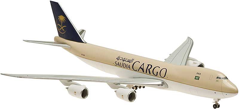 Saudi Cargo 747-8F Nonflex Wings, No Stand HZ-A14 (1:400), Hogan Wings Collectible Airliner Models Item Number HG5453