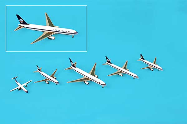 Azerbaijan 5 Plane Set ATR72/A319/A320/757/767 (1:500), Hogan Wings Collectible Airliner Models Item Number HG9802