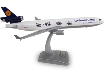 Lufthansa Cargo MD-11 (1:200) 100 Years Cargo No Gear, Hogan Wings Collectible Airliner Models Item Number HGLH23