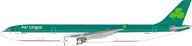 Aer Lingus A330-300 EI-EAV (1:200), InFlight 200 Scale Diecast Airliners Item Number ARD2043