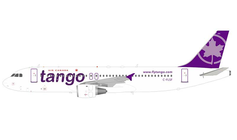Air Canada Tango Airbus A320-200 C-FLSF With Stand (1:200)