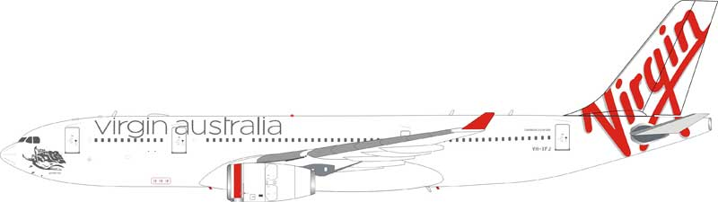 Virgin Australia Airlines Airbus A330-200 VH-XFJ (1:200) - Preorder item, Order now for future delivery, InFlight 200 Scale Diecast Airliners Item Number B-333VA-001