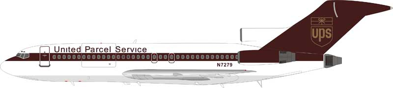 UPS Boeing 727-100 N7279 (1:200) - Preorder item, order now for future delivery