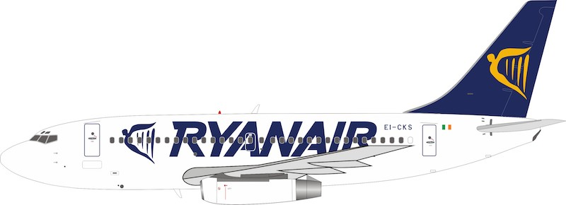 Ryanair Boeing 737-200 EI-CKS With Stand (1:200) by InFlight 200 Scale Diecast Airliners