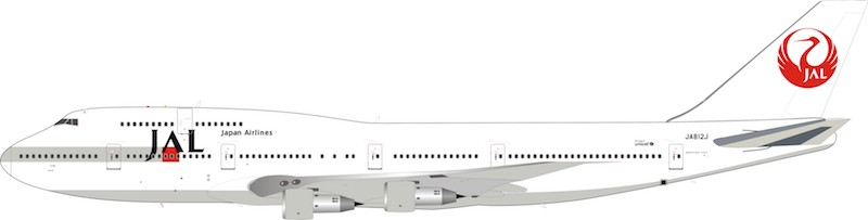 "JAL Boeing 747-300 JA812J ""1990s Colors"" (1:200) - Preorder item, order now for future delivery, InFlight 200 Scale Diecast Airliners Item Number B-743-3-998"