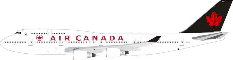Air Canada Boeing 747-400 C-GAGN With Stand (1:200)