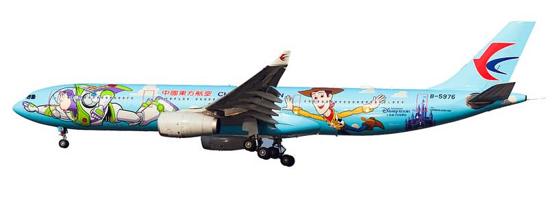 "China Eastern Airlines Airbus A330-300 B-5976 ""Toy Story"" (1:200) - Preorder item, order now for future delivery"