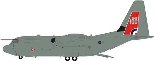 UK - Air Force Lockheed Martin C-130J Hercules C5 (L-382) ZH887 (1:200) by InFlight 200 Scale Diecast Airliners