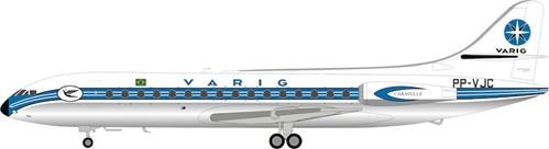 Varig Sud SE-210 Caravelle III PP-VJC polished (1:200) - Preorder item, order now for future delivery, InFlight 200 Scale Diecast Airliners, Item Number IF210RG1118P
