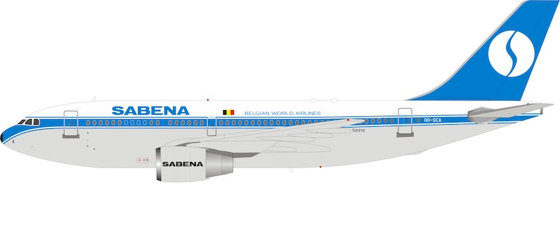 Sabena Airbus A310-200 OO-SCA (1:200)