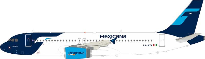 Mexicana Airbus A320-200 XA-MXW (1:200) by InFlight 200 Scale Diecast Airliners