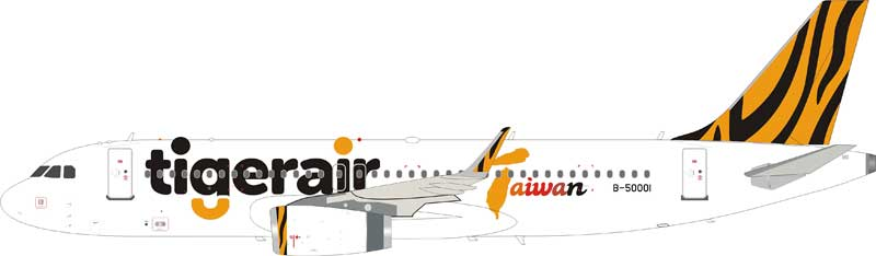 Tigerair Airbus A320-200 B-50001 (1:200) , InFlight 200 Scale Diecast Airliners Item Number IF320IT001