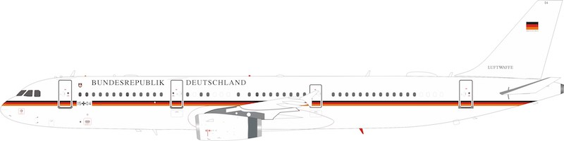 Germany - Air Force Airbus A321-231 1504 (1:200)