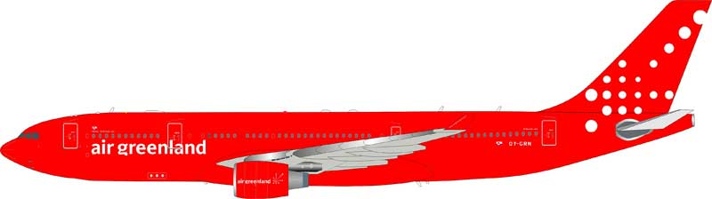 Air Greenland Airbus A330-200 OY-GRN (1:200), InFlight 200 Scale Diecast Airliners Item Number IF3320118
