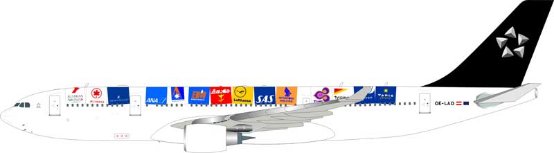 "Austrian Airlines ""Star Alliance"" Airbus A330-200 OE-LAO (1:200) - Preorder item, order now for future delivery"