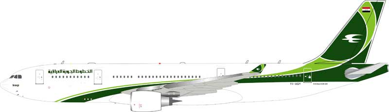 Iraqi Airways Airbus A330-200 YI-AQY (1:200) - Preorder item, order now for future delivery, InFlight 200 Scale Diecast Airliners, Item Number IF332IA0119