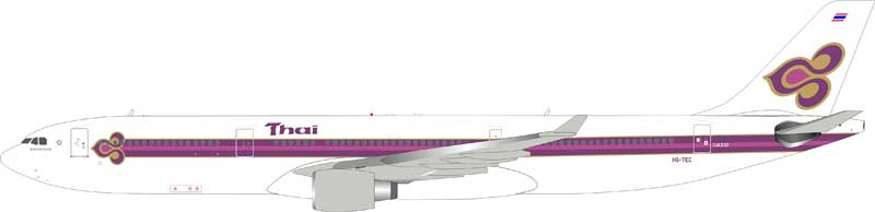 Thai Airways A330-300 HS-TEC (1:200), InFlight 200 Scale Diecast Airliners Item Number IF3330916