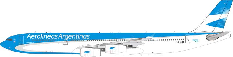 Aerolineas Argentinas Airbus A340-300 LV-CSX (1:200) - Preorder item, Order now for future delivery