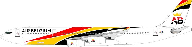 Air Belgium Airbus A340-300 OO-ABA (1:200), InFlight 200 Scale Diecast Airliners Item Number IF343TBA01