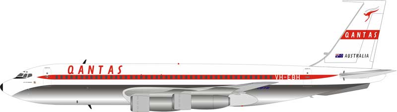QANTAS Boeing 707-100 VH-EBH Polished With Stand (1:200)