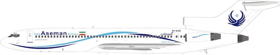 Iran Aseman Airlines Boeing 727-200 EP-ASB (1:200), InFlight 200 Scale Diecast Airliners, IF722EP0319