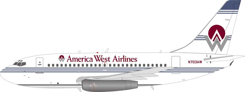 America West Airlines Boeing 737-100 N703AW (1:200) - Preorder item, order now for future delivery