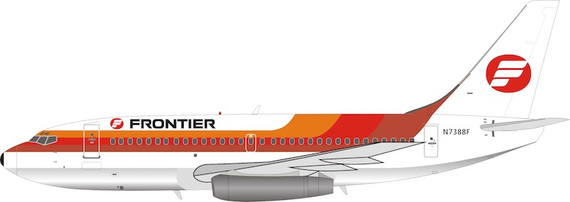 Frontier Airlines Boeing 737-200 N7388F (1:200), InFlight 200 Scale Diecast Airliners Item Number IF732F90818