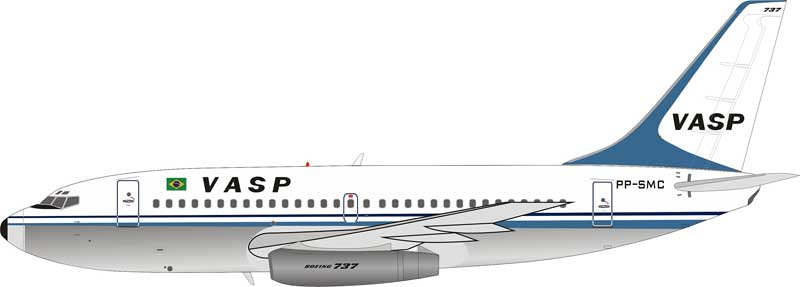 VASP Boeing 737-2A1 PP-SMC With Stand (1:200)