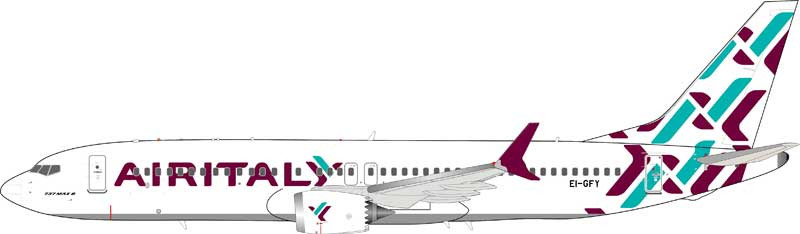 Air Italy Boeing 737-8 Max EI-GFY (1:200) - Preorder item, order now for future delivery