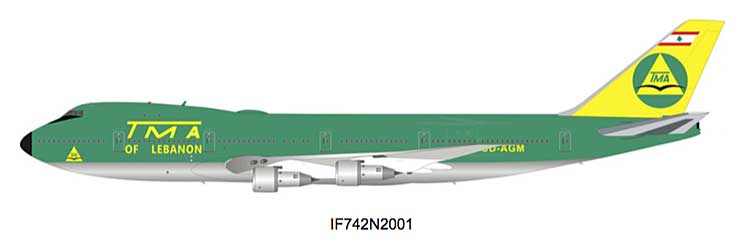 TMA of Lebanon Boeing 747-100 OD-AGM (1:200), InFlight 200 Scale Diecast Airliners Item Number IF742N2001