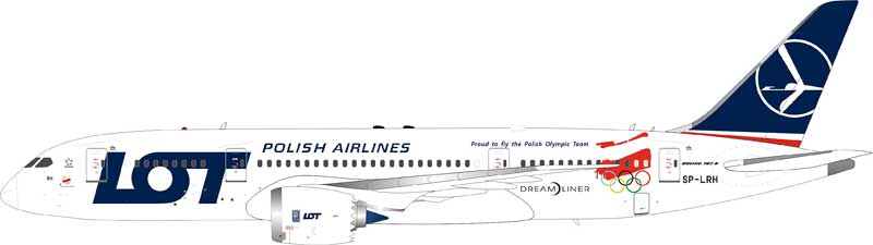 "LOT Polish Airlines Boeing 787-8 Dreamliner SP-LRH ""2018 Olympic Winter Games Livery"" (1:200), InFlight 200 Scale Diecast Airliners Item Number IF787LOT002"