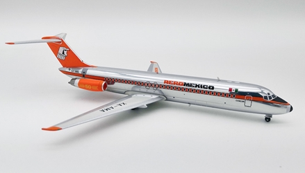 AeroMexico McDonnell Douglas DC-9-32 XA-AMA polished (1:200) - Preorder item, order now for future delivery