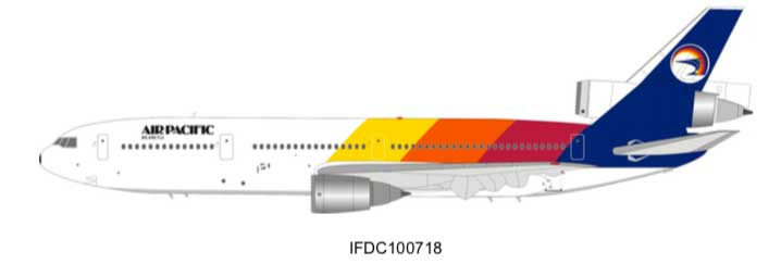 Air Pacific McDonnell Douglas DC-10-30 N821L (1:200) - Preorder item, Order now for future delivery, InFlight 200 Scale Diecast Airliners Item Number IFDC100718