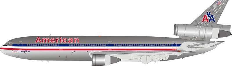 American Airlines DC-10-30 N144AA Polished (1:200), InFlight 200 Scale Diecast Airliners Item Number IFDC10AA0518P