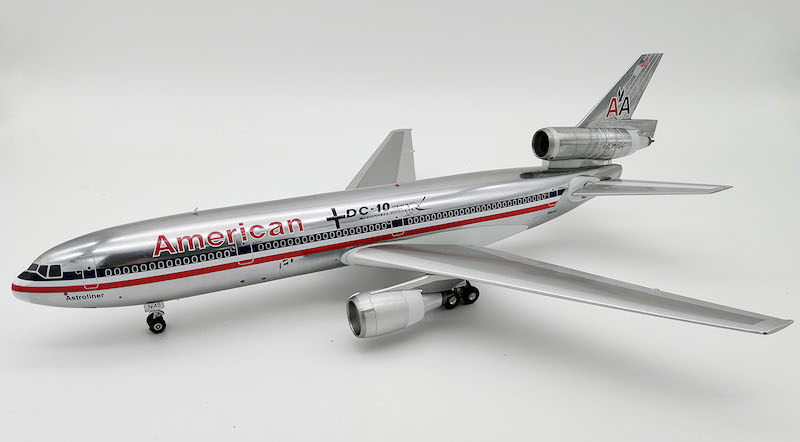 "American Airlines DC-10-10 N102AA ""Douglas Experimental Aircraft Logo"" Polished (1:200) - Preorder item, order now for future delivery, InFlight 200 Scale Diecast Airliners Item Number IFDC10AA0718P"