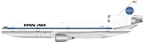 Pan Am McDonnell Douglas DC-10-30 N84NA Polished (1:200) by InFlight 200 Scale Diecast Airliners