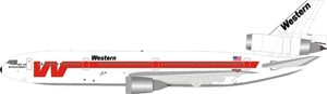 Western Airlines McDonnell Douglas DC-10-10 N906WA (1:200) - Preorder item, order now for future delivery , InFlight 200 Scale Diecast Airliners, Item Number IFDC10WA0618