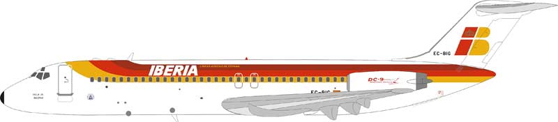 Iberia McDonnell Douglas DC-9-32 EC-BIG (1:200) , InFlight 200 Scale Diecast Airliners Item Number IFDC9IB0818