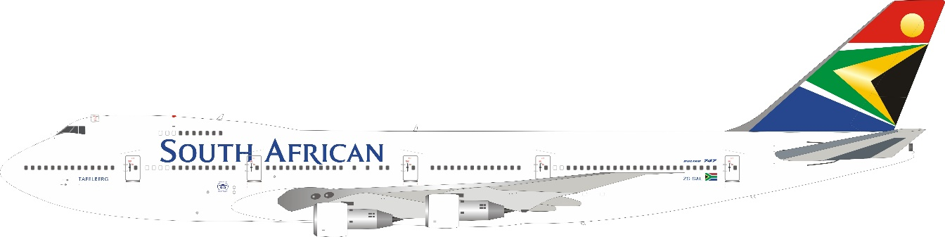 South African Airways 747-244B ZS-SAL (1:200)