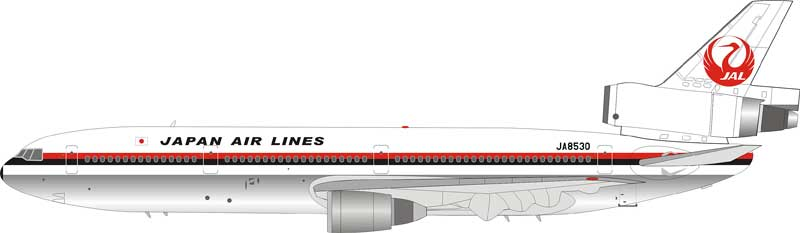 Japan Air Lines JAL  DC-10-40 JA8530 (1:200), Jet X 1:200 Scale Diecast Item Number VL2017001