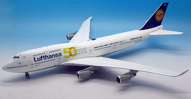 "Lufthansa 747-430 ""50 Years"" D-ABVH (1:200), JFox Model Airliners Item Number WB-VH"