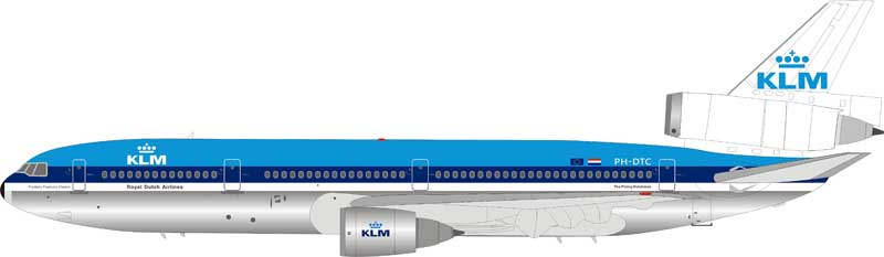 KLM Royal Dutch Airlines DC-10-30 PH-DTC (1:200) by InFlight 200 Scale Diecast Airliners Item Number: IFDC100719