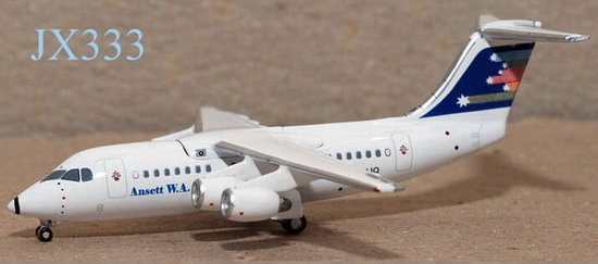 "Ansett W.A. BAe 146-200 ""Flying Stars"" (1:400), Jet X 1:400 Diecast Airliners, Item Number JET333"